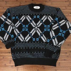 Vintage Men's Jd Sun Valley Virgin Wool Sweater